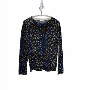 EQUIPMENT Femme Blue Spotted Cashmere Sweater